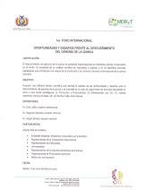 1er. FORO INTERNACIONAL OPORTUNIDADES Y DESAFIOS FRENTE AL DESCUBRIMIENTO DEL GENOMA DE LA QUINUA