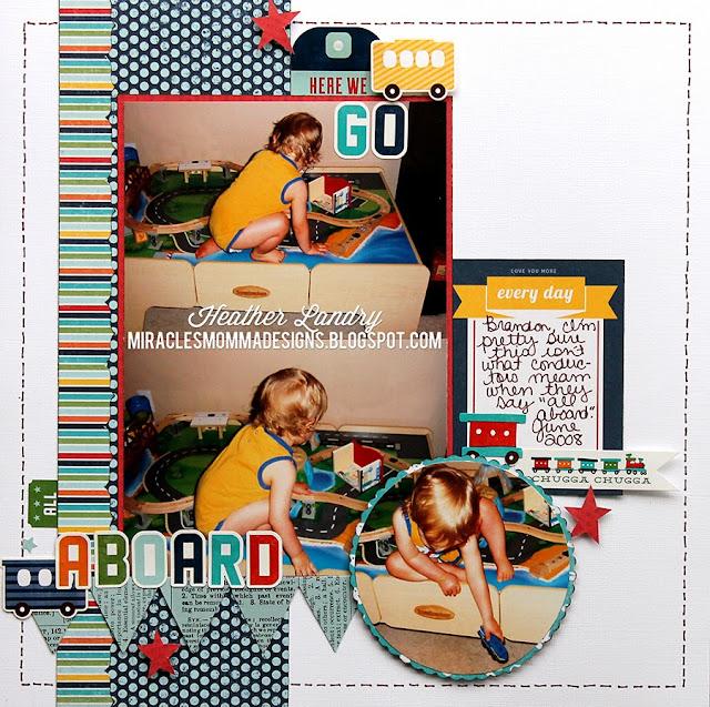 Train Table_Little Boy_Scrapbook Page