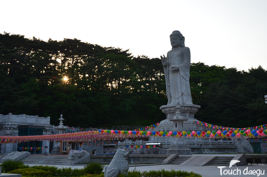The largest stone buddha in Asia in Donghwa-sa