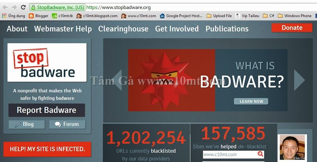 stopbadware - Ngăn chặn phần mềm độc hại