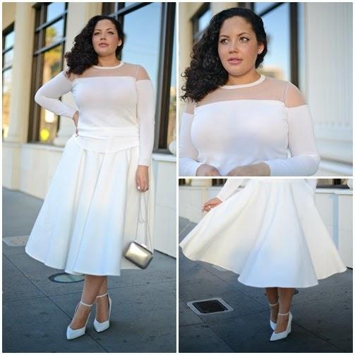 Cách chọn trang phục màu trắng tinh khôi cho người thừa cân