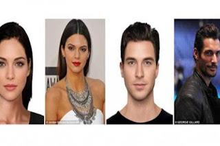 Wow, Wajah Wanita Tercantik dan Pria Tertampan di Dunia, Kendall Jenner dan David Gandy