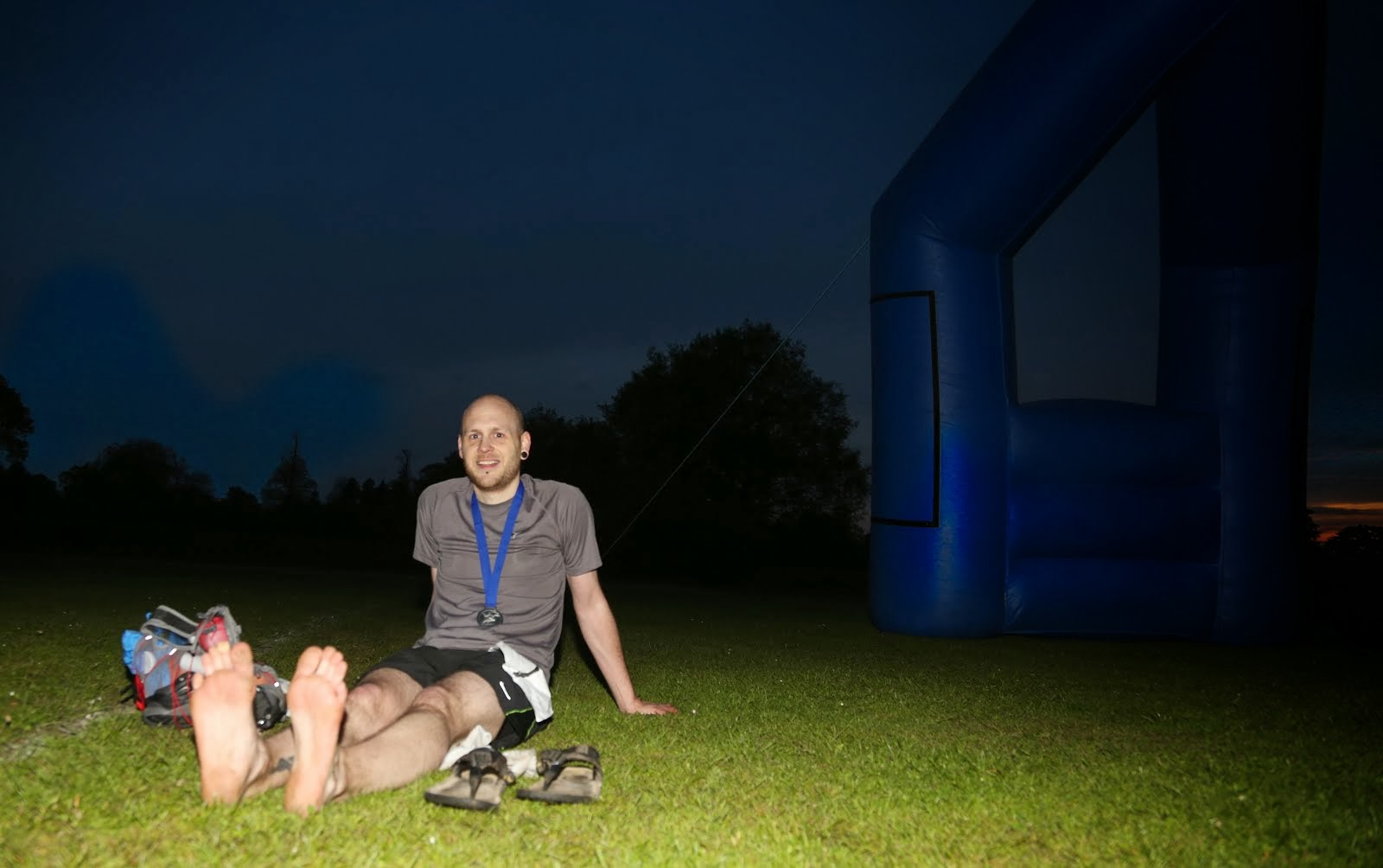 At the finish of the NDW50