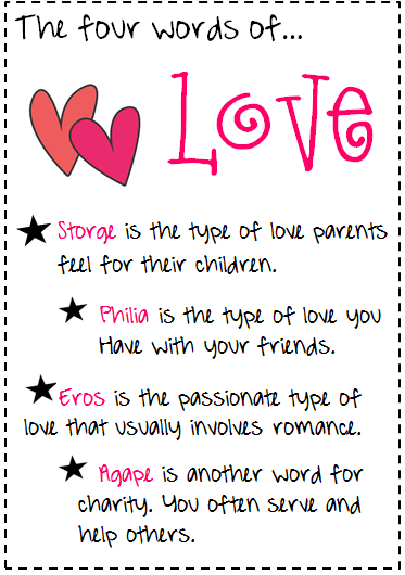 different types of love essay