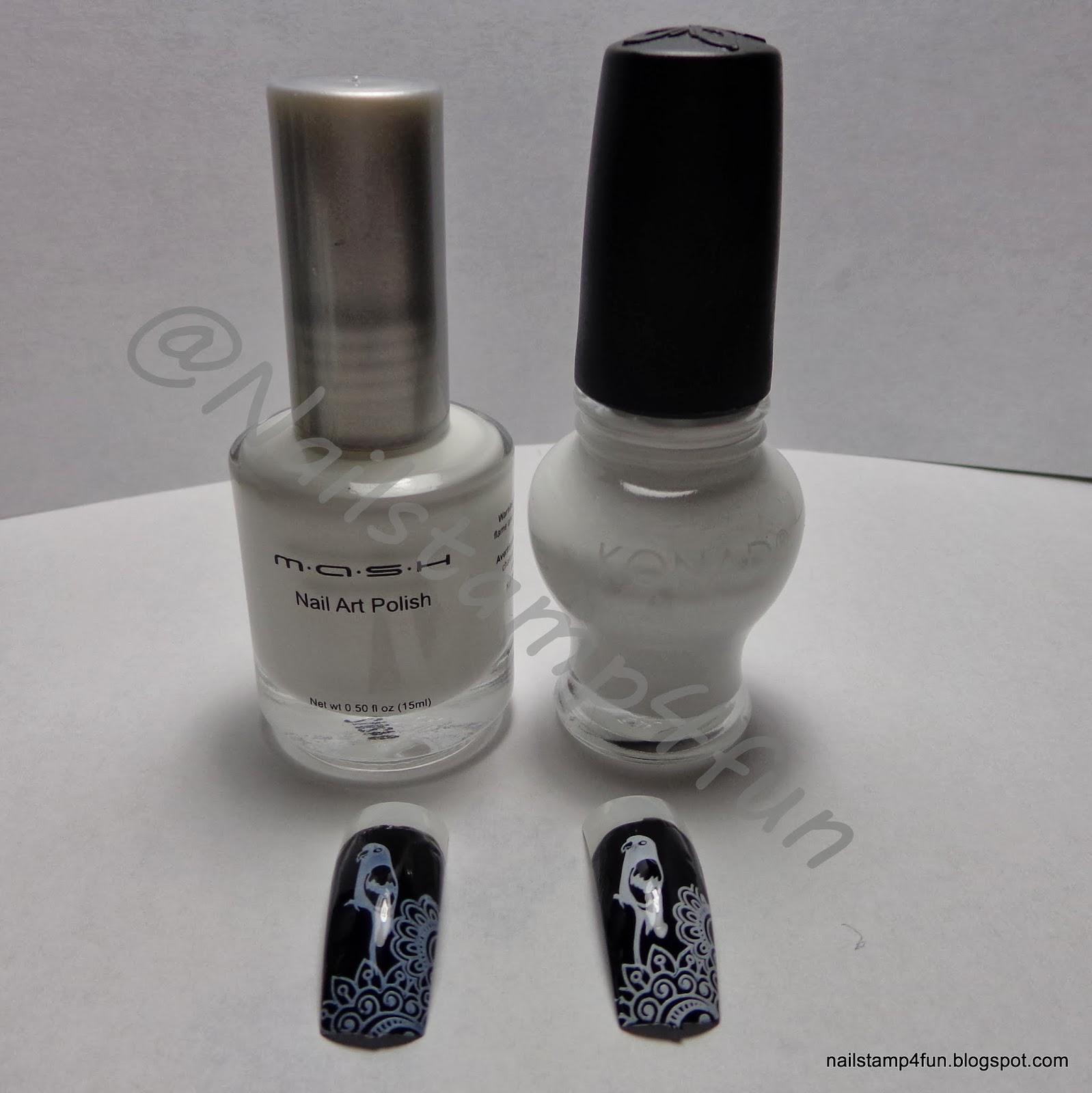 Nail Stamp 4 Fun: Swatches of Black & White Nail Stamping Polishes