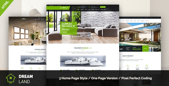 download Dream Land - Single Property HTML Template