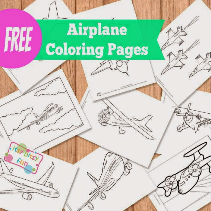 key coloring pages preschool airplanes - photo#26