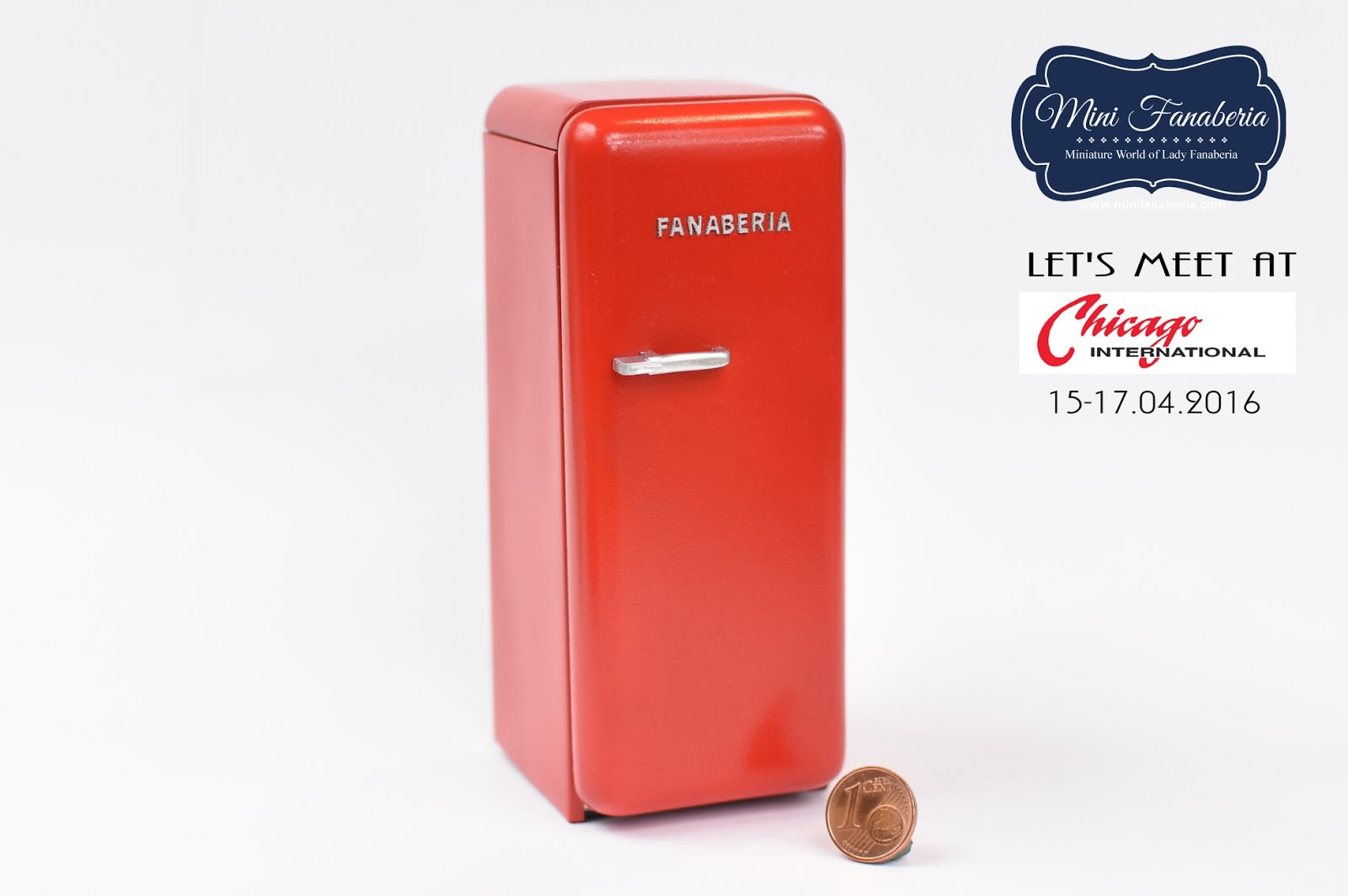 Red retro fridge