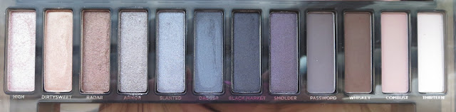 a picture of Urban Decay Naked Palette (comparison) ; Naked Smoky