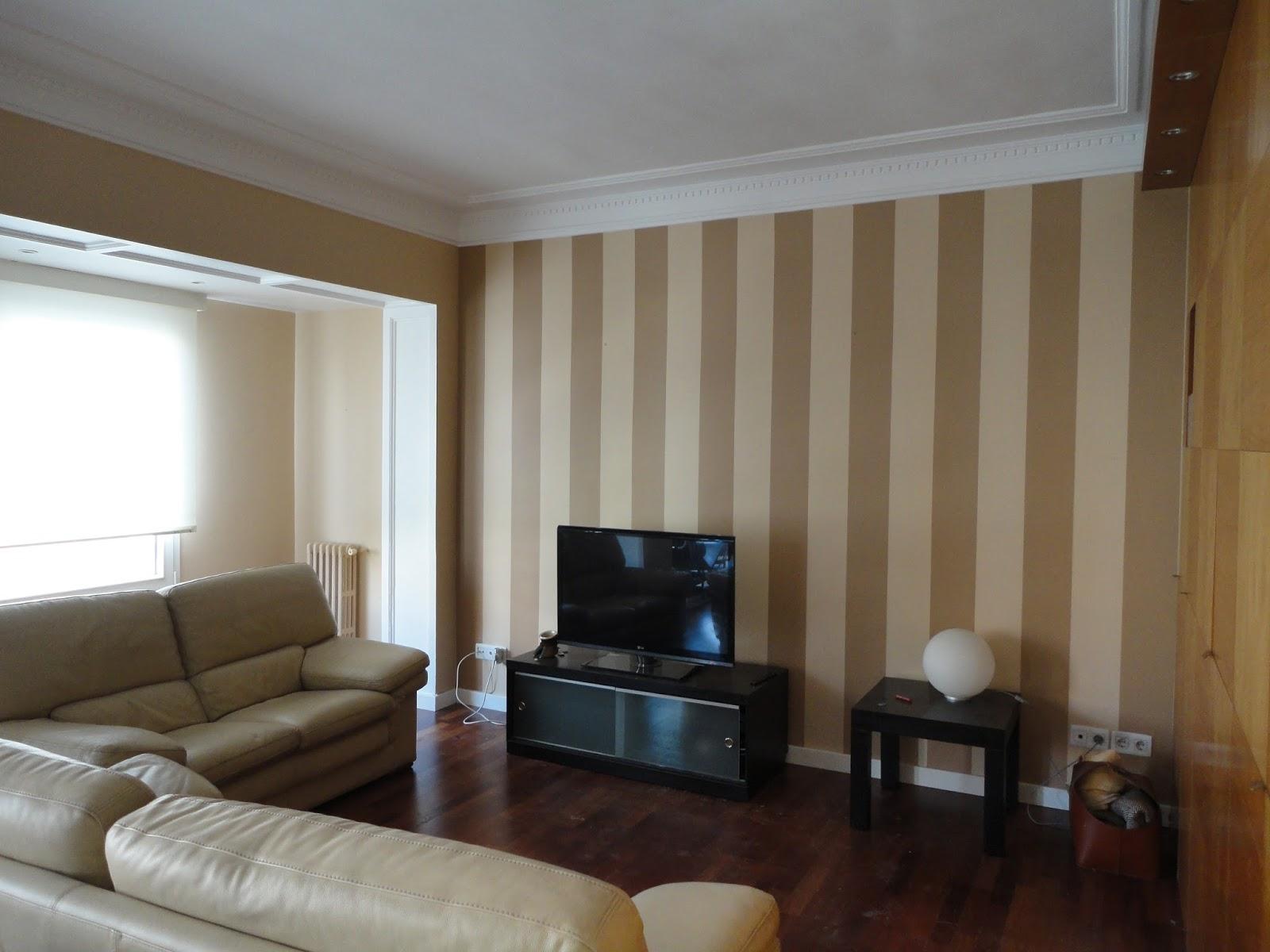 Rayas pintadas pintor david martinez - Habitaciones pintadas con rayas ...