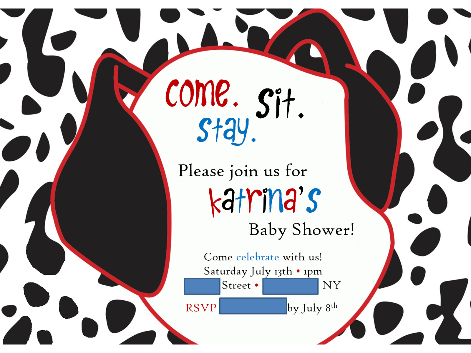 A Bugs Life 101 Dalmatians Baby Shower