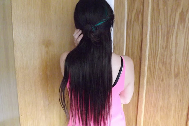 Halo Hair Extensions: Back View