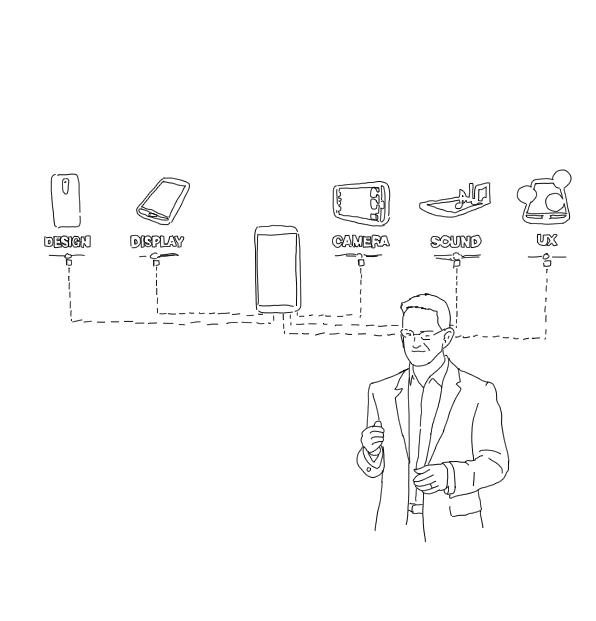 James Fishler presenting LG G2 five breakthroughs