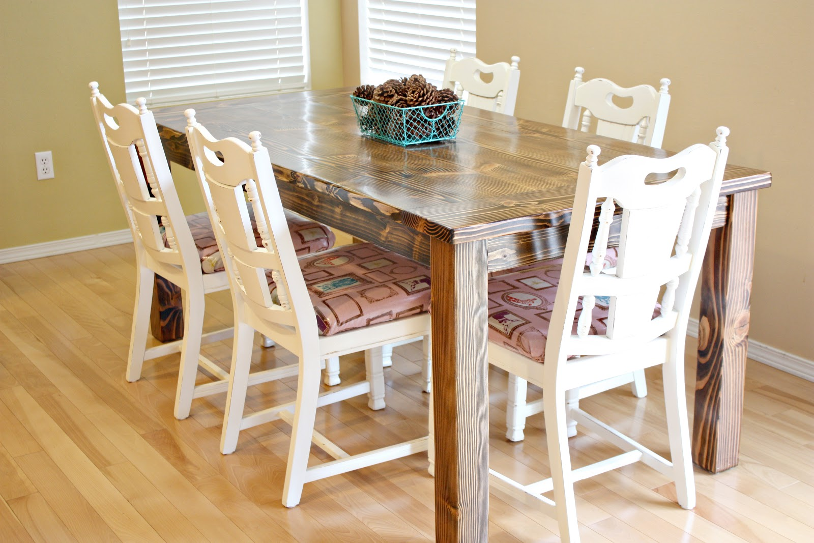 farmhouse dining room table and chairs - sew much ado