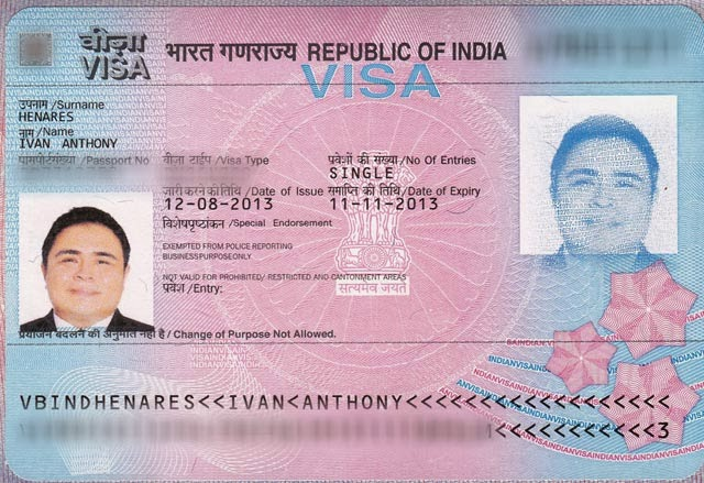 India Applying For An Indian Visa In The Philippines