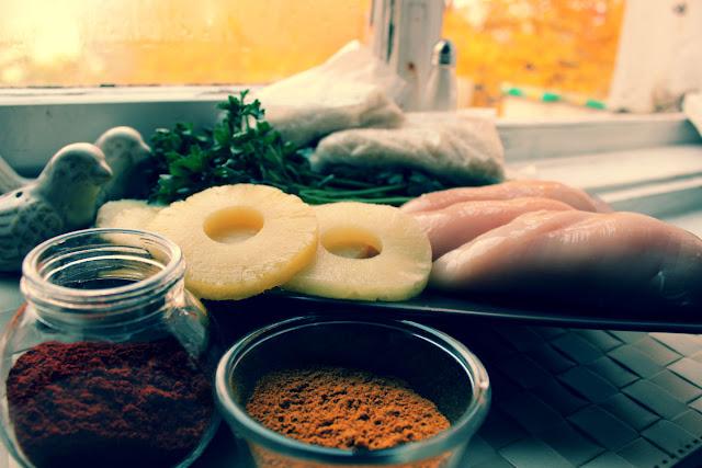 Kurczak curry.