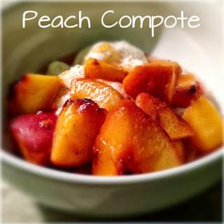 Fresh Peach Compote: Recipe from Lavende & Lemonade