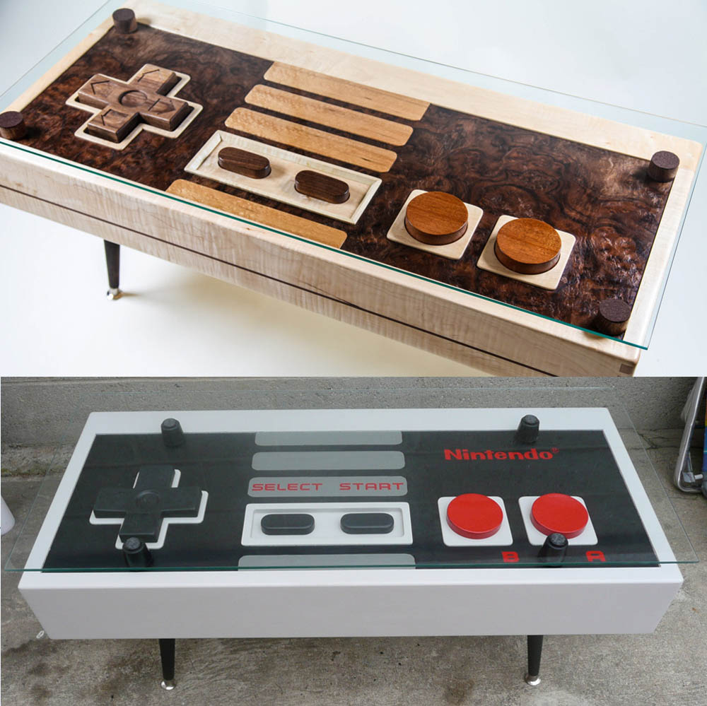 Super Bowl Update Handcrafted Nintendo NES Controller Coffee Tables