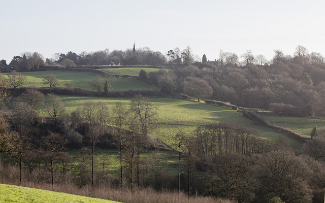 Ide Hill from the bottom of Scords Wood, December 2015.