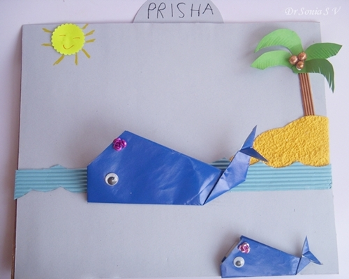 Cards crafts kids projects whales school project for Whale crafts for kids