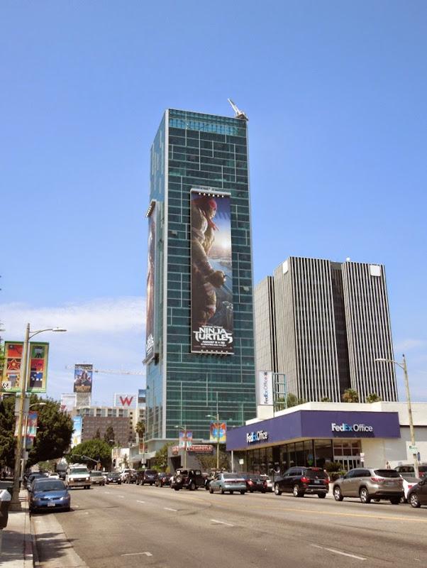 Giant Raphael Ninja Turtles movie billboard