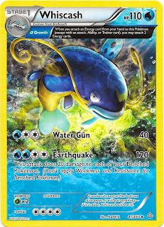 Whiscash Primal Clash Pokemon Card