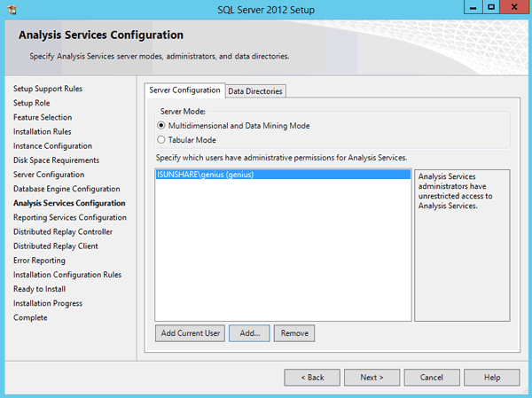configure SQL Server analysis services