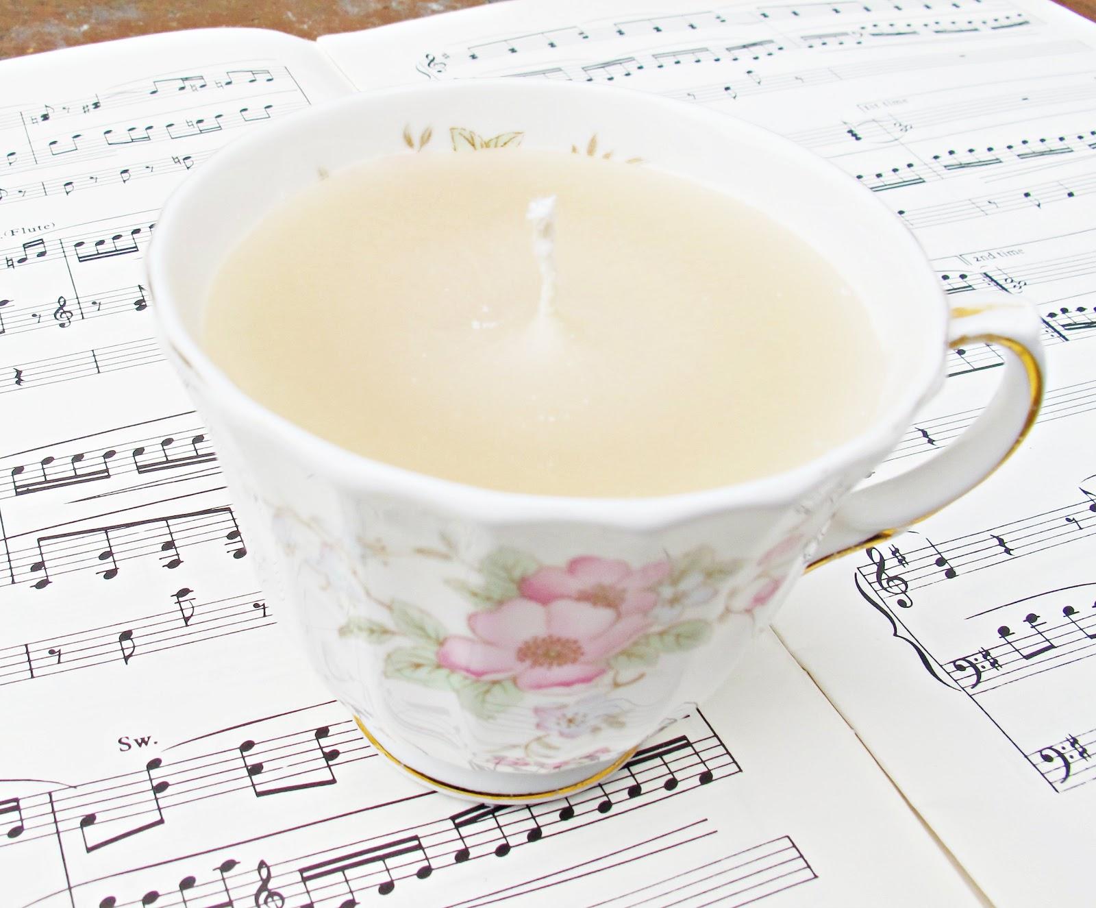 image teacup candle vintage loretta domum vindemia pink flowers