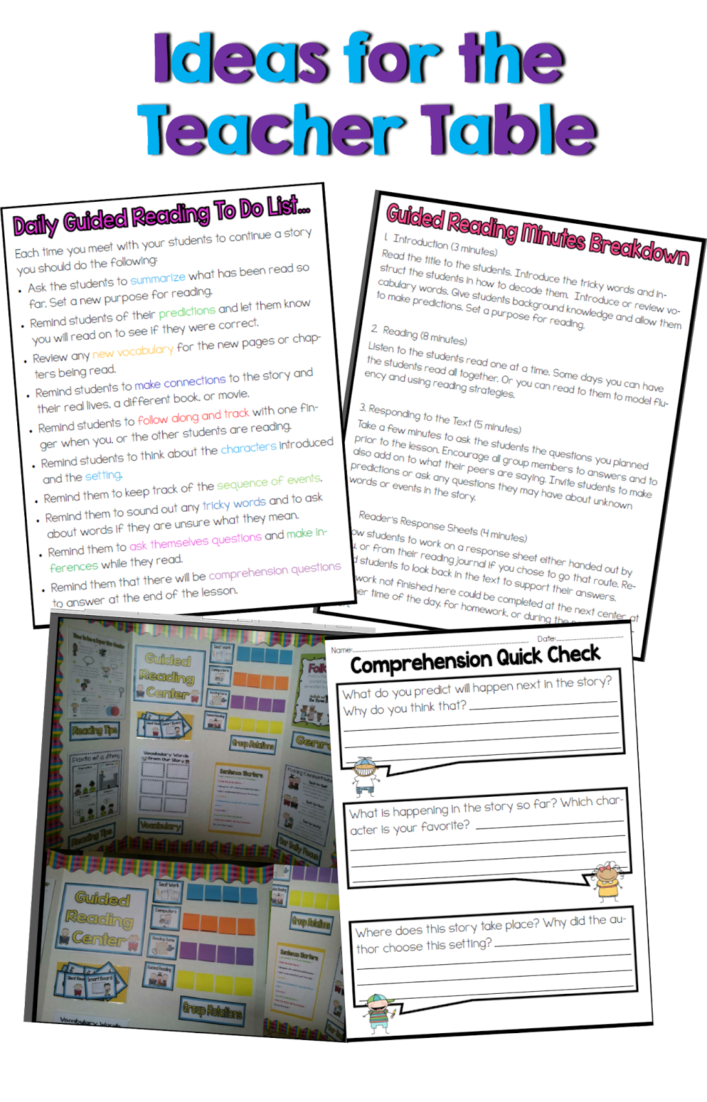 Primary Classroom Design Guide ~ Primary chalkboard reading center ideas for your classroom