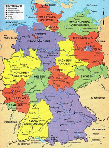 Mapas del Mundo Mapa Poltico Alemania