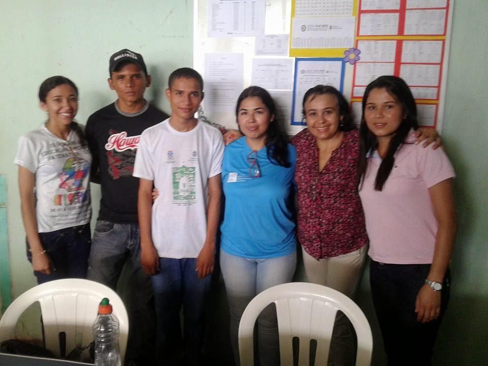Maria, Edinaldo, Natan, Renata, Jucileide e Vaniele