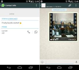 WhatsApp update - Status update time & Video thumbnail