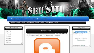 Template Star Downloads para Blogger