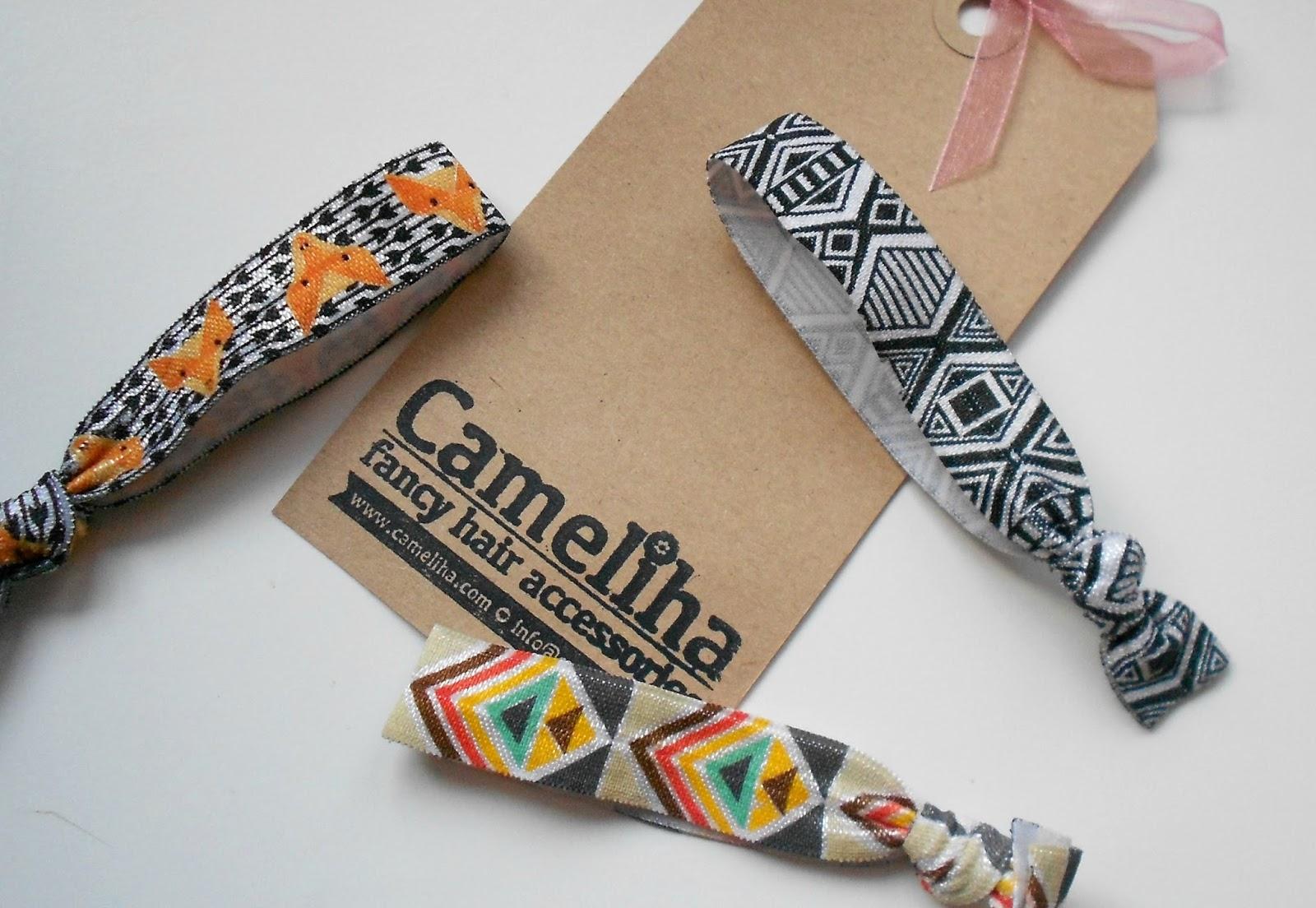 Cameliha printed hair ties