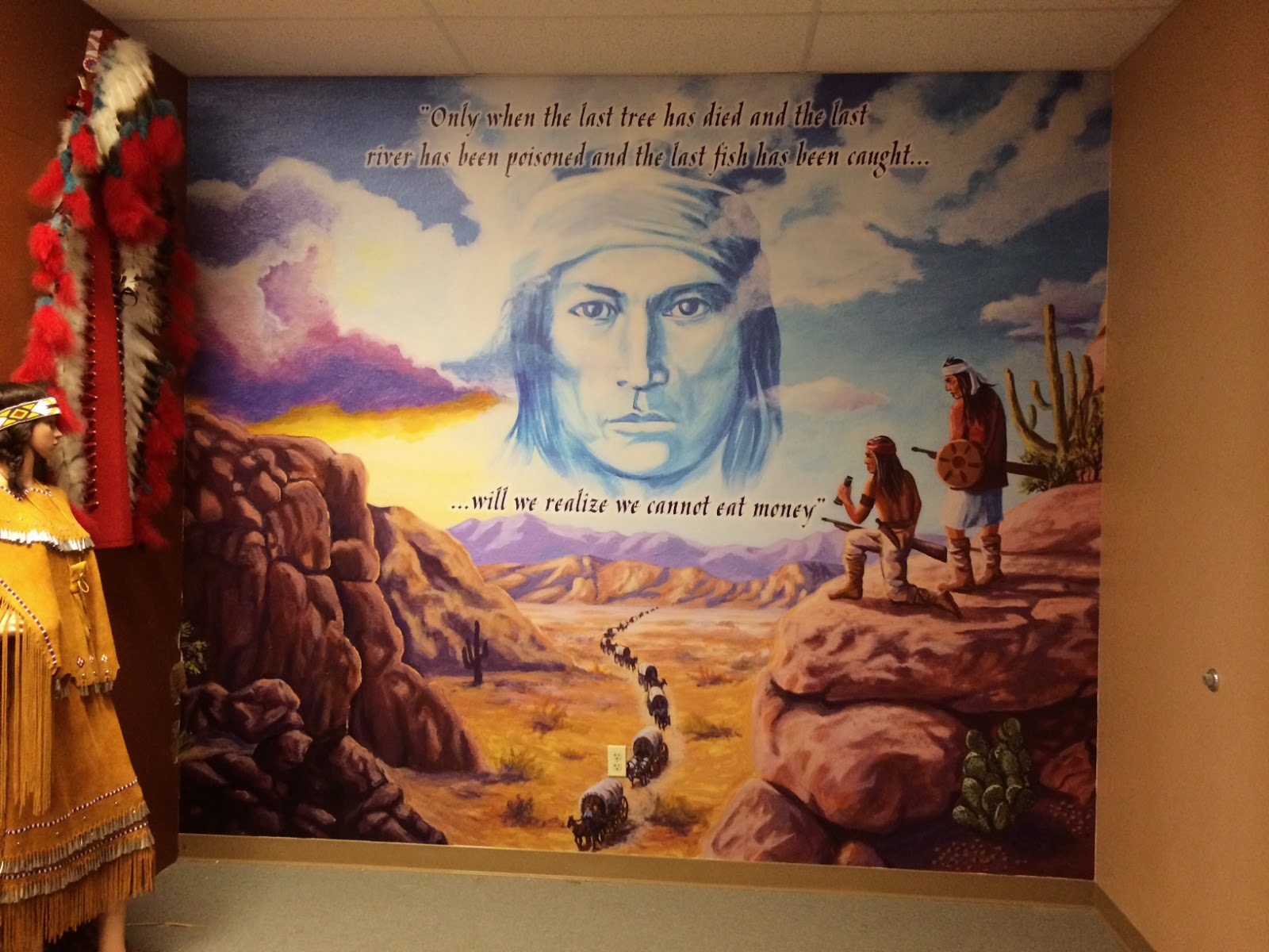 Native american wall murals home design bertram signs makes native american wall mural for grace voss frederick museum of americana in cave amipublicfo Choice Image