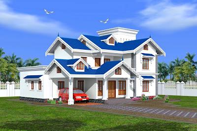 3450 sqft 4 bedroom indian bungalow designs - Home Design Inspiration