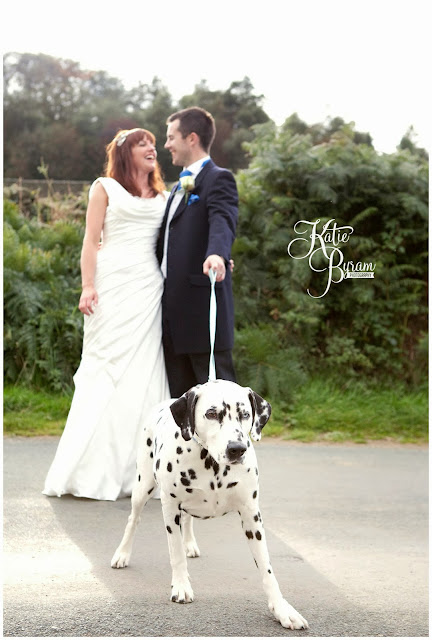dalmatian, dog at wedding, ronald joyce, victoria jane, wedding dress, fitted wedding dress, unusual veil, danby castle wedding, quirky wedding photography, katie byram photography, north east wedding, yorkshire wedding photography, whitby wedding, dogs at wedding, horse at wedding, pets at wedding