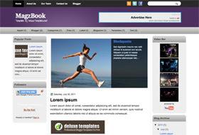 MagzBook Blogger Template