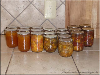 home canned peach products