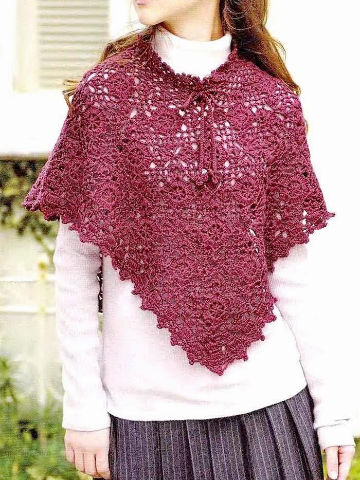 Crochet Poncho : Crochet Shawls: Crochet Lace Poncho - Gorgeous