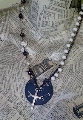 high voltage assemblage necklace