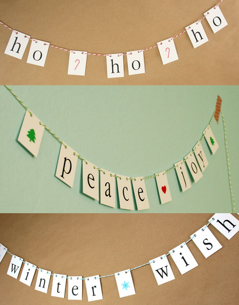 winter free printable garlands
