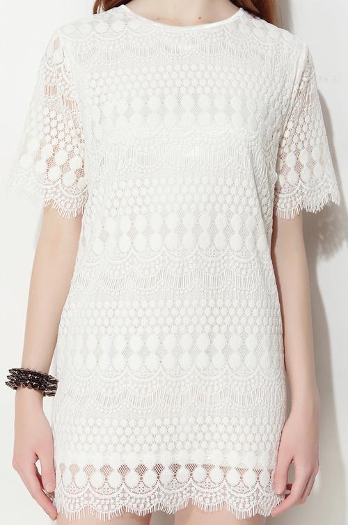 Danny Love Moroccan Lace Shift Dress