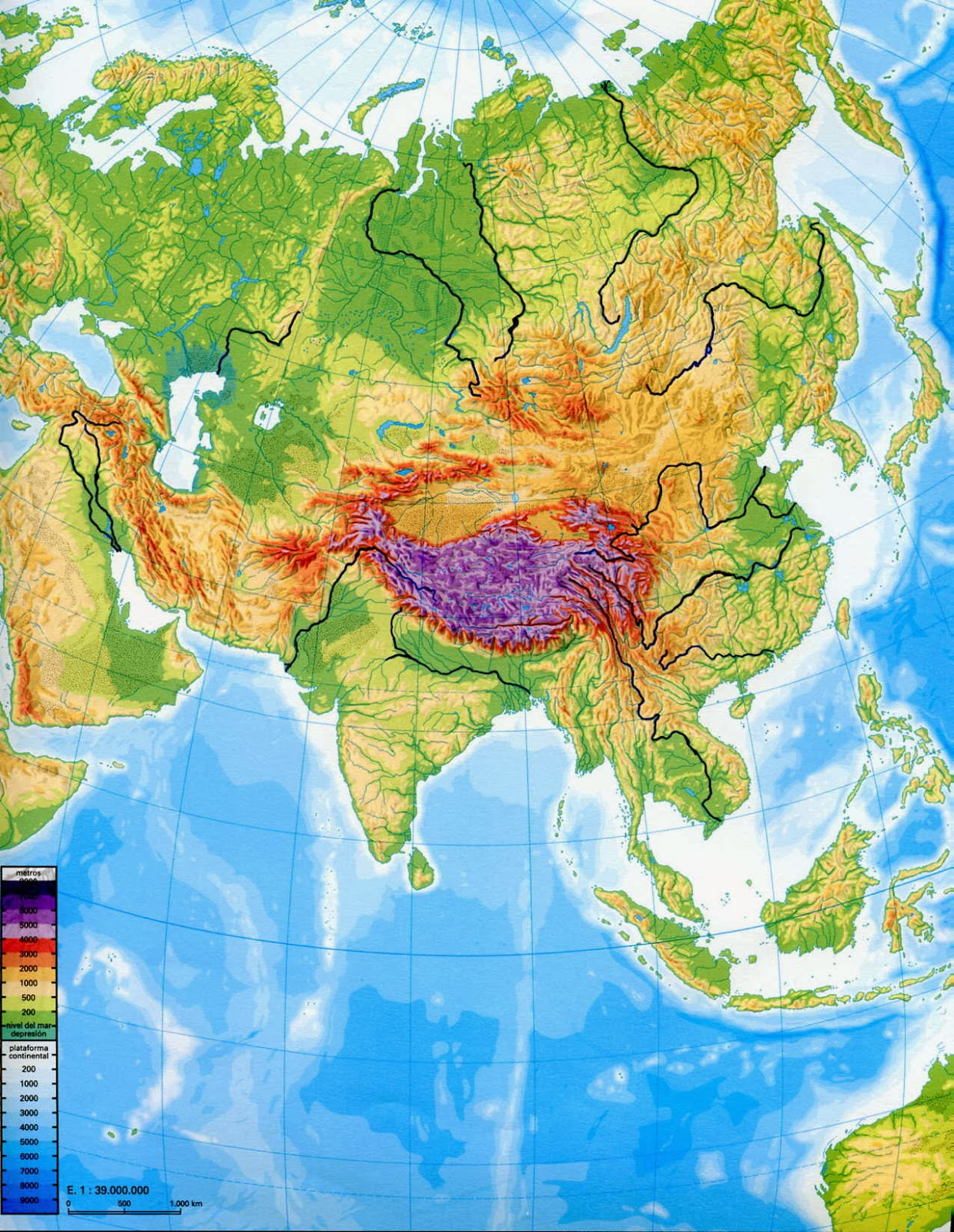 Geography and history blog asia and oceania physical maps asia and oceania physical maps gumiabroncs Image collections