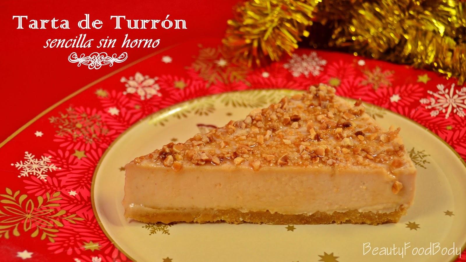 BFB rubibeauty tarta de turron sin horno sencilla facil rapida navidad receta navideña