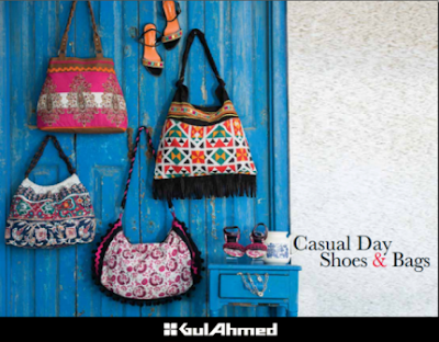 Girls Cute Luxury Handbags and Causal Shoes by Gul Ahmed