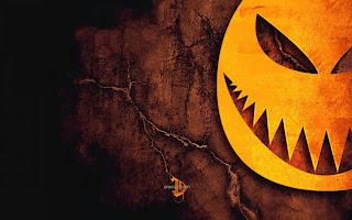Halloween Pumpkin Teeth Dark Gothic Wallpaper