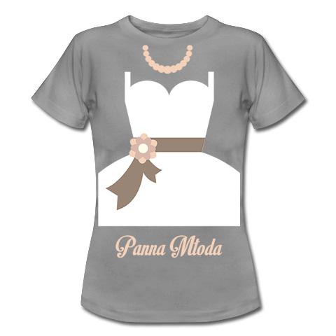 koszulka z suknią panny młodej