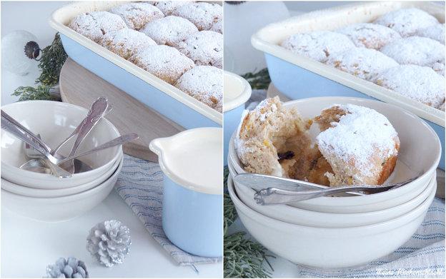 Hefe Buchteln a la Weihnachts Stollen mit Marzipan Sauce { Werbung ...
