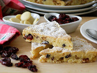 Cranberry White Chocolate Shortbread